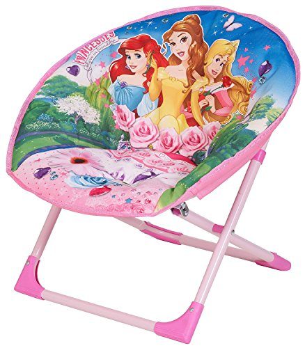 kids Disney Moon Chair Avengers Folding Round Soft Padded Chair for toddlers