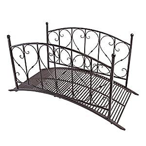 Design toscano lovers bridge metal garden for Metal garden bridge designs
