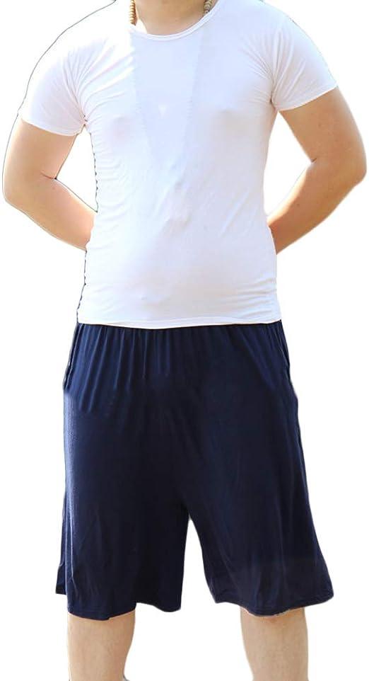 Pantalones Pijama Hombre Corto Verano Oversize Pantalon para Dormir Casa Comodo Y Suave