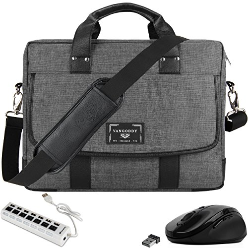 VanGoddy 17.3-inch Laptop Messenger Bag with Mouse and USB Hub for Lenovo G70-70 G70-80, IdeaPad 110 300 320 330 L340 700 Y700 Y900, Legion Y920 Y730 Y740, ThinkPad P70 P71 P72 P73, Z70-80