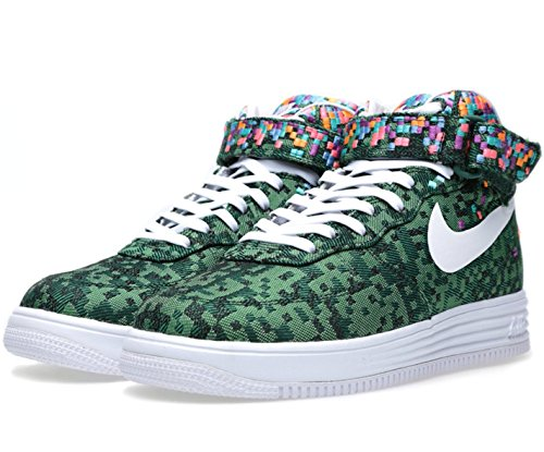 Nike Men's Lunar Force 1 Mid JCRD SP Shoes. Size 8.5. PINE GREEN/PINE GREEN-GORGE GREEN/WHITE