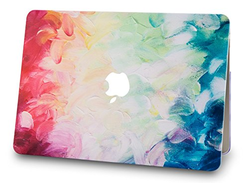 """KECC Laptop Case for MacBook Air 13"""" w/Keyboard Cover Plastic Hard Shell Case A1466/A1369 2 in 1 Bundle (Fantasy)"""