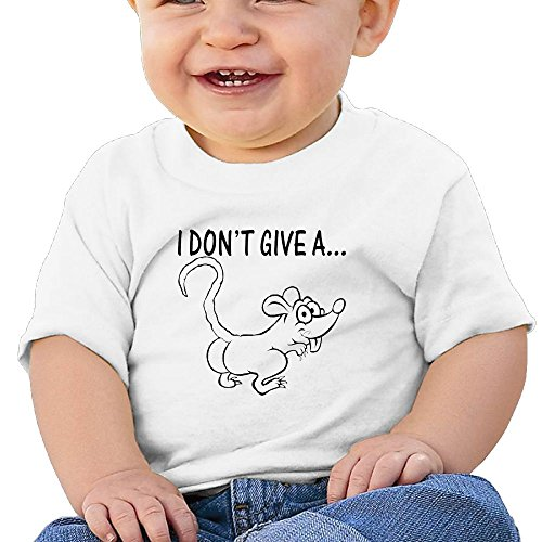 Price comparison product image Oswjswj Baby I Don't Give A Rat's Unisex Infants Crew Neck Short Sleeve Tee 18 Months White
