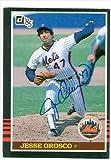Autograph Warehouse 35826 Jesse Orosco Autographed Baseball Card New York Mets 1985 Donruss Baseball Card No. 75