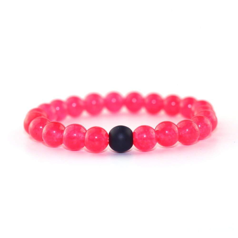 Amazon.com: DUOJINZ Couple Beaded Bracelet Rose Red Matte ...