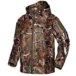 Wisdom Wolf Hommes Vestes Militaire Tactique Imperméables Softshell Toison Manteau d'hiver Outdoor Hoodie