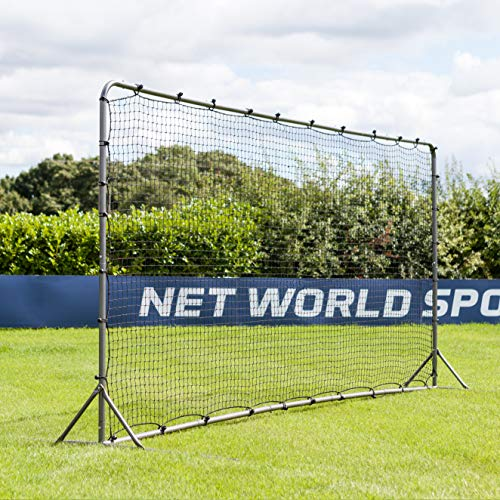 Forza Soccer Rebound Wall (12ft x 6ft or 16ft x 7ft) - Dual-Sided Soccer Rebounder | Freestanding Spring-Loaded Soccer Rebound Net [Net World Sports]