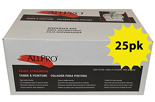 Allpro Paint Strainers - Elastic Top (25, 1 Gallon)