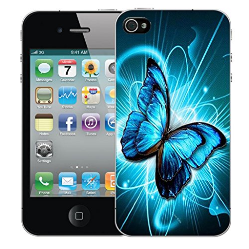 Mobile Case Mate iPhone 5 clip on Dur Coque couverture case cover Pare-chocs - futuristic butterfly Motif avec Stylet