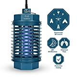 multifun Bug Zapper, Electric Indoor Fly Trap, No-Odor Mosquito Killer, Home Insect Killer with Built-in UV Light Bulb for Residential Commercial Use (Update Version)