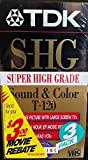 TDK Super High Grade T-120 Video Tapes, 3 Pack