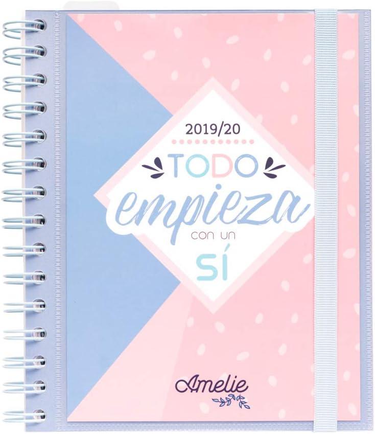 Agenda escolar 2019/2020 semana vista Amelie