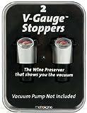 Metrokane 6511 Rabbit V-Gauge Stoppers, Set of 2