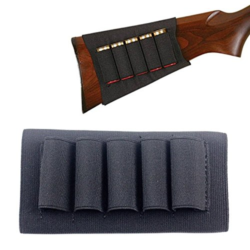 1PCs Butt Stock Buttstock Rifle Shotgun Shell Cartridge Holder Carrier for 12G 12 Gauge/20G 20 Gauge (Black)