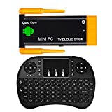 Tops J22 Mini PC Android TV Dongle with Wireless Keyboard Quad Core;Nand Flash 16GB,Dual WiFi antennas Bluetooth