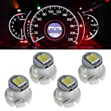 honda clock bulb - Partsam 4PCS T3 Neo Wedge SMD Instrument Panel LED Light Gauge Cluster Lamps Bulbs