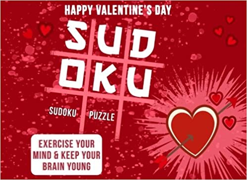 Valentines Gifts For Her Sudoku Puzzle Book As A Valentines Day