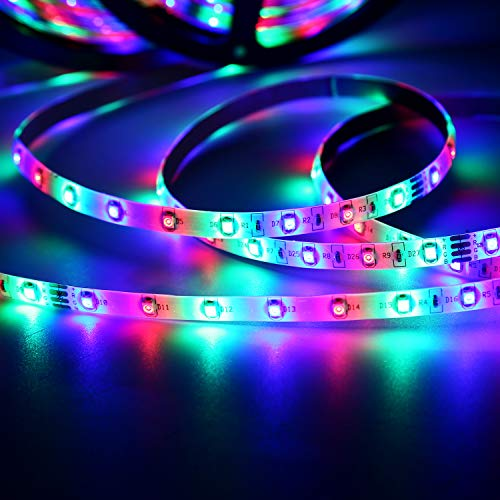 LED Strip Lights 216.4ft RGB Warm White LED Light Strip 3528 LED Tape Lights Color Changing LED Strip Lights with Remote for Home Lighting Kitchen Decoration DIY