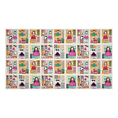 ADORNit Sunshine Girls Funny Girl 25in Panel Mutli Fabric