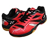 Yonex SRCR CFM Junior Non Marking Badminton Shoes - Red/Black, 3 UK (for Juniors)