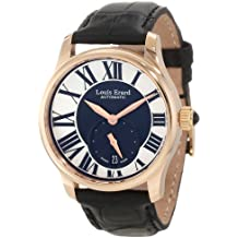"""Louis Erard Women's 92602OR02.BACs6 """"Emotion"""" 18kt Rose Gold-Plated Automatic Watch with Black Leather Band"""