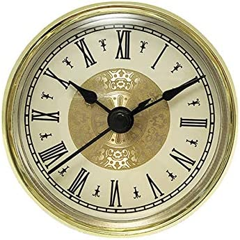 "2-Pack Quartz Clock Fit Up Insert Fancy Face Beige Ivory Arabic 4/"" diameter NEW"