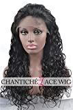 Chantiche® Best Natural Looking Deep Curly Lace Front Wigs 6a Remy Human Hair Wigs 130 Density 20inch #1 Medium Size Cap Medium Brown Lace