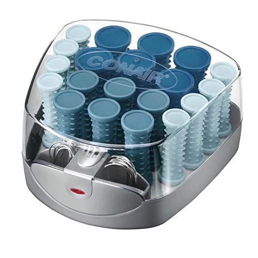 Conair Compact Multi-Size Hot Rollers; Blue - 51gyYV3o 2BRL - Conair Compact Multi-Size Hot Rollers; Blue