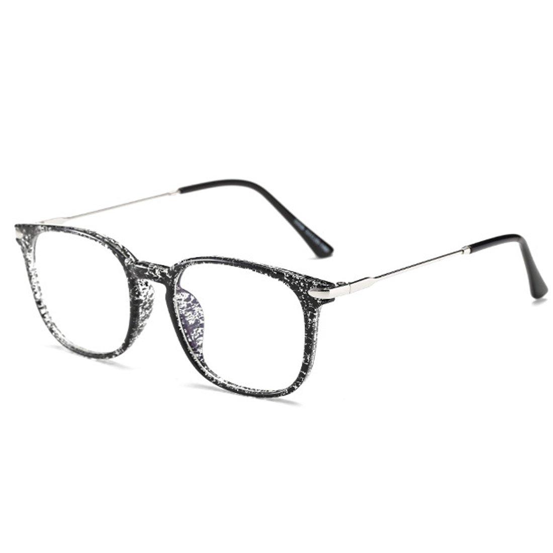 Rnow Vintage Anti-Reflective Anti-Glare Anti-Blue Rays Sunglasses Clear Lens Computer Gaming Eyeglasses