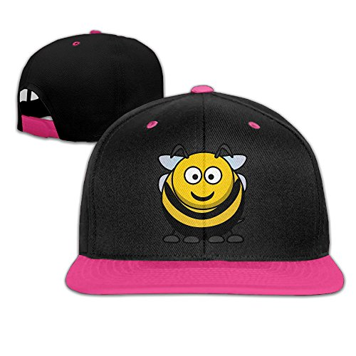 Kakakaoo Fat Bee Outdoor Sun Protection Hat Snapback Flat Bill Cap Pink (Songs Justin All Bieber Christmas)