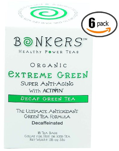 Extreme Green – Super Anti-Aging, Decaffeinated – 18 Tea Bags Per Box, (Pack of 6 Boxes, 108 Total Tea Bags) Review