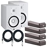 yamaha hs sub - Pair of Yamaha HS8W Powered Studio Monitors (White) w/ MoPads and Cables