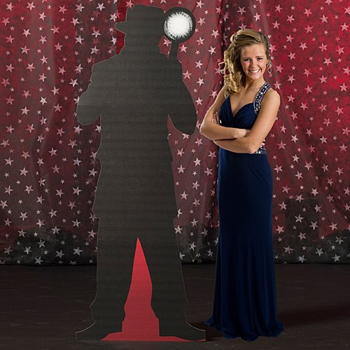 6 ft. Vintage Hollywood Movie Star Paparazzi 2 Standup Photo Booth Prop Background Backdrop Party Decoration Decor Scene Setter Cardboard Cutout -