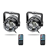 Party Lights , ALED LIGHT Mirror Ball Party Lights Strobe Lights Colorful Disco Ball Light with Bluetooth Remote for Xmas Party Wedding Show Club Pub Disco DJ(With Remote))