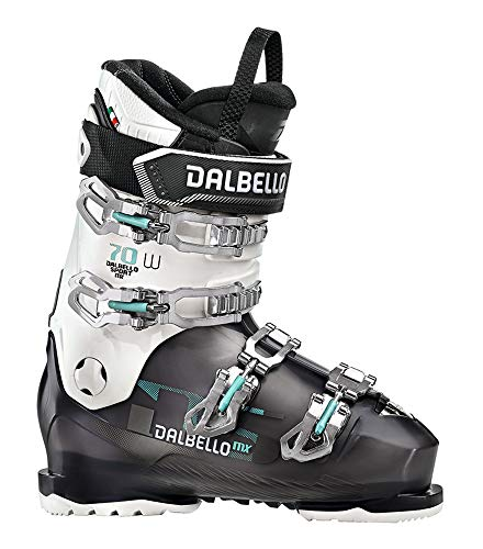 Dalbello DS MX 70 W Womens Ski Boots 2020-25.5/Black Transparent-White (Dalbello Ski Boots Women)
