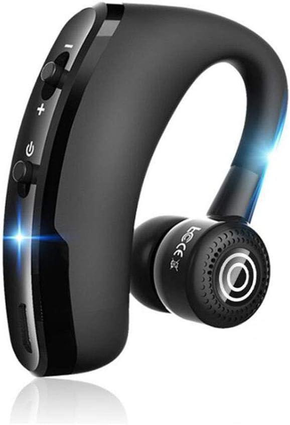 HKSMAN V9 - Auriculares manos libres inalámbricos Bluetooth con micrófono y control de voz para conectar el dispositivo para smartphones iPhone y Samsung Andriod