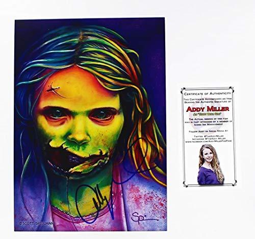 Walking Dead The Addy Miller As Teddy Bear Girl Autographed Art Print