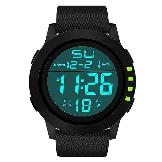 Reloj Inteligente para Mujeres Hombres, Hombres de Lujo analógico Digital Militar Deporte LED Impermeable Reloj de Pulsera (Verde): Amazon.es: Relojes