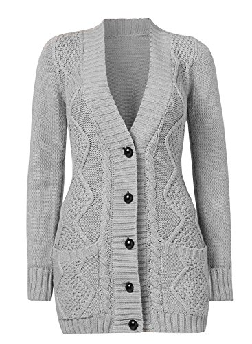 163761f2c486aa Sidefeel Women Open Front Pocket Cardigan Sweater Button Down Knit Sweater  Coat - Exclusive Products