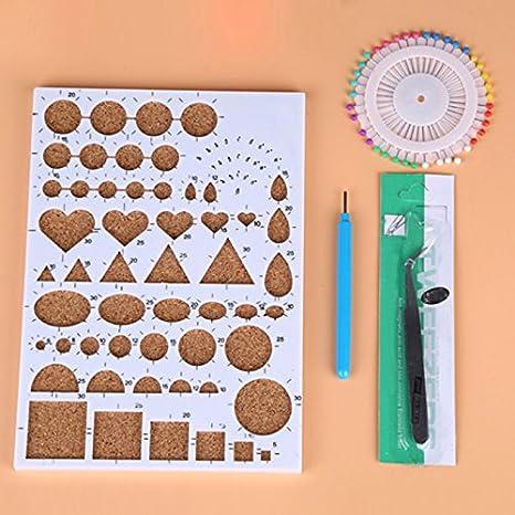 Espeedy Papel Quilling DIY,1 set bricolaje herramienta de arranque de papel quilling herramientas de laminado kit de agujas de molde de pinzas equipo: ...