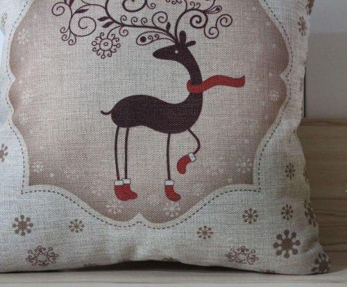 LINKWELL 45*45cm Deer Merry Christmas 2013 Best Gift Christm