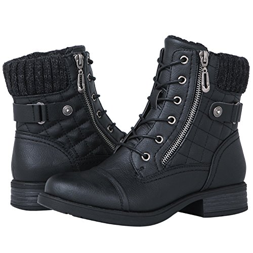 GLOBALWIN Women's 1821 Black Fashion Boots 6.5M (Cheap Fashion Boots)