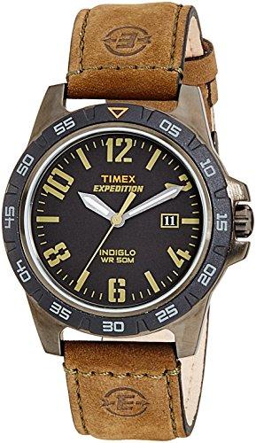 Timex T49926 30mm Stainless Steel Case Green Calfskin Mineral Men's Watch