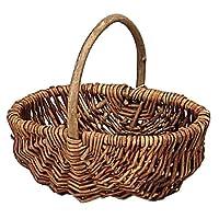 大橋新治商店 【小物収納やインテリアに最適な手作りバスケット】Willow Basket ブラックウイローフリーバスケットオーバル S 11-760