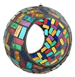 #9: Wild Bird Feeder - Round Ball Mosaic Glass Garden Feeder - Celebration