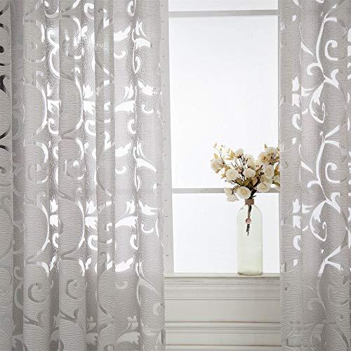 Euone  Christmas Clearance , 1 PC Tulle Door Window Curtain Drape Panel Sheer Scarf Valances 100x200cm (Gray)