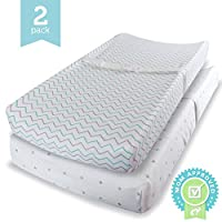 Ziggy Baby Changing Pad Cover, Cradle Bassinet Sheets Fitted Jersey Cotton (2...