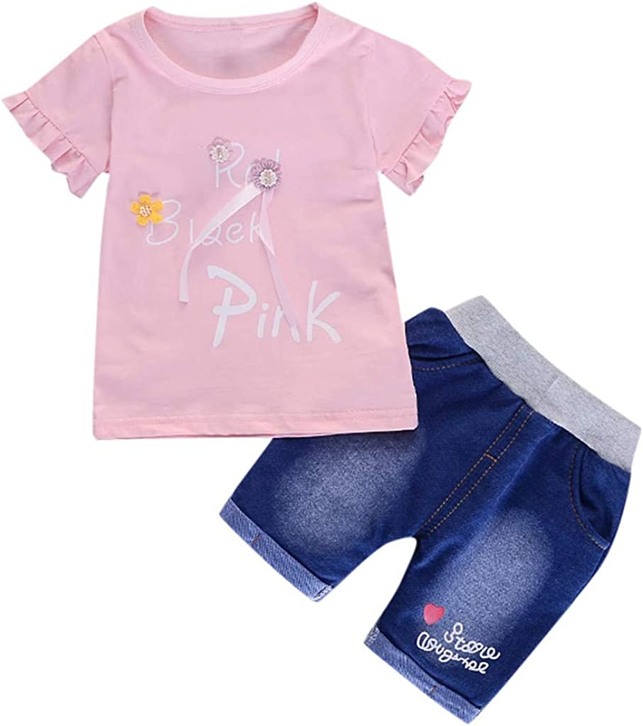 3M-3T Jeans Denim Shorts Suit Newborn Clothing Sets Short Sleeve Shirts residentD Baby Girl Summer Clothes