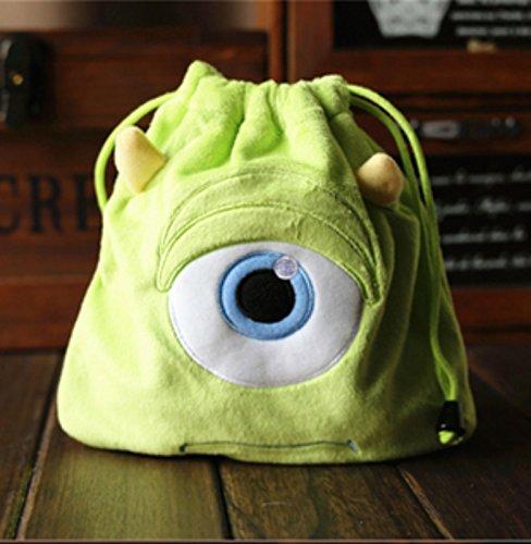 rare Schultertasche Tasche Shoulder Bag Rucksack reisetaschen Grün Auge Plush new