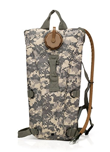 (Red Jacket US Army 3L 3 Liter (100 ounce) Hydration Pack Bladder Water Bag Pouch Backpack Hiking Climbing Survival Outdoor (ACU Camo))